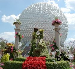 Cinderella Topiary at Epcot in Disney World