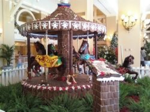 Gingerbread Carousel at Disney's Beach Club resort.
