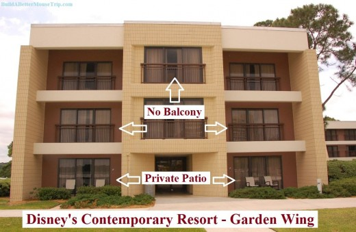 Disney 39 S Contemporary Resort Balconies And Patios