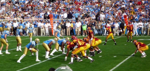 The 2008 USC-UCLA game.  Photo from Wikimedia Commons.