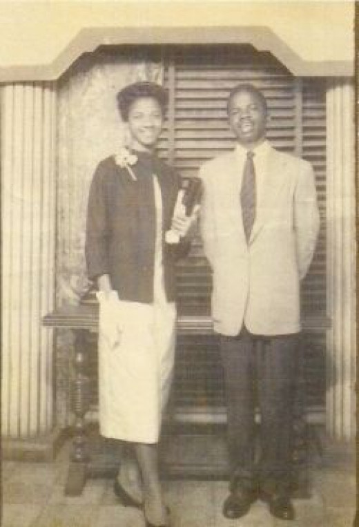 Dad with his sister Irma