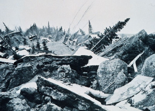 The Good Friday earthquake hit Alaska on March 27th.  Measuring 9.2 on the Richter scale, it is the second biggest quake in recorded history.  131 people are killed in the quake and the resulting tsunamis.