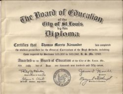 Dad's high school diploma