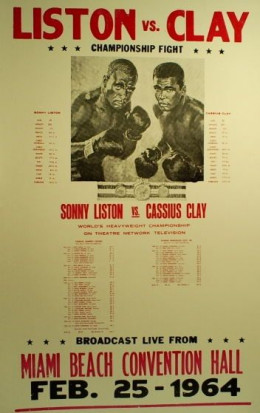 Cassius Clay wins the heavyweight championship of the world on February 25th and announced he was joining the Nation of Islam on February 27th.