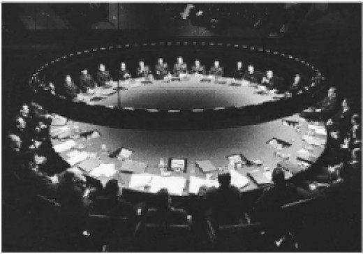 """The War Room from the movie """"Dr. Strangelove"""""""