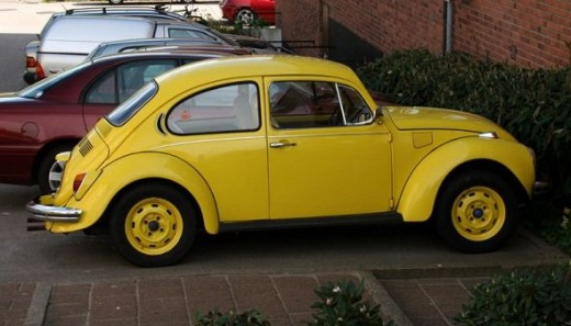 My Bug was yellow, but not as clean-looking as this one.