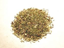 Green rooibos tea leaves, photo shared on Wikimedia Commons by Badagnani