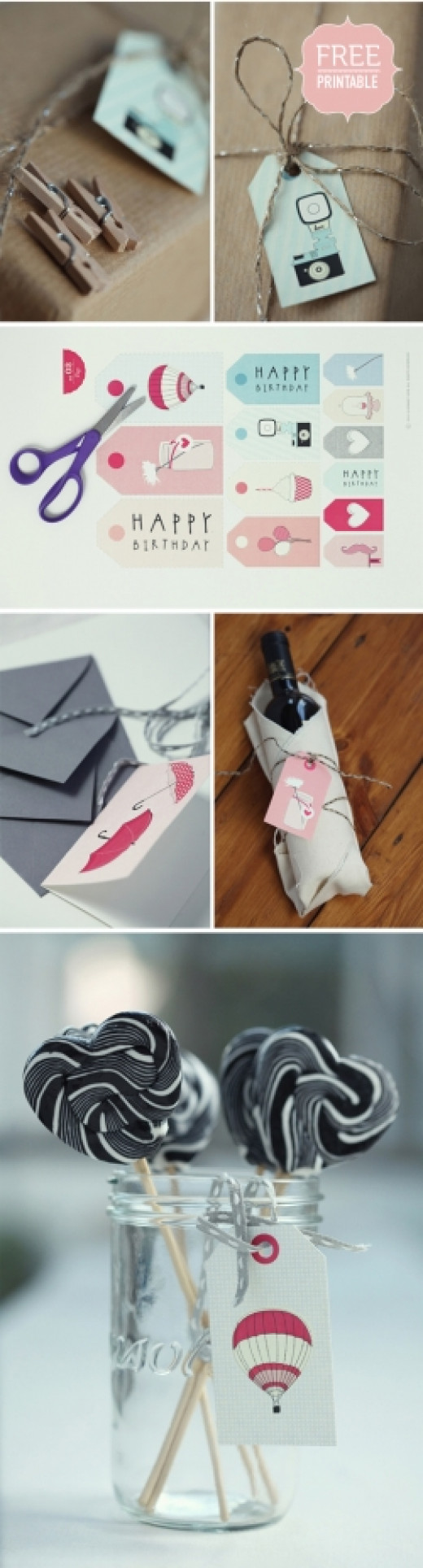 printable birthday gift tags