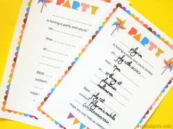 draw pilgrim printable birthday invitation