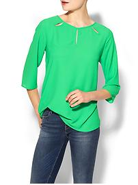 bright green blouse