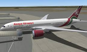 A Kenya Airways dreamliner. Kenya Airways owns the Jambo Jet airline