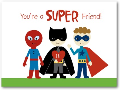 superhero valentines for boys