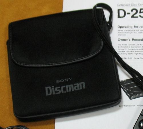 Sony Discman D-25 Original Soft Case