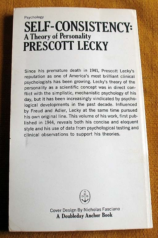 Self Consistency by Prescott Lecky Book Description