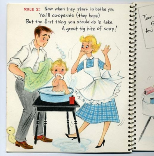 "1950s Hallmark Booklet: ""How to Take Care of Baby"""