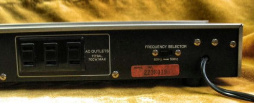 Sansui Audio Timer Picture of Back