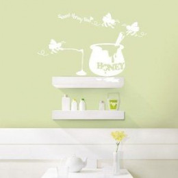 """""""Sweet Honey Bee"""" Easy to Apply Wall Decal"""