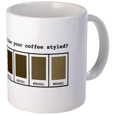 Coffee Mug for Web Designers
