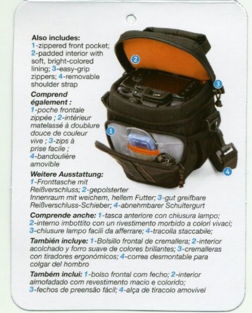 Features of the Lowepro LP36235 Adventura TLZ 15 Top Loading Bag