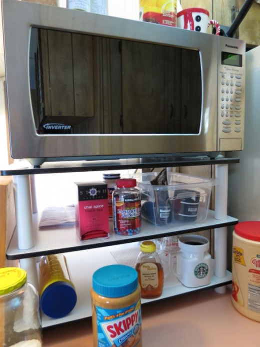 Cheap Microwave Oven Shelf or Table for on Top of Counter