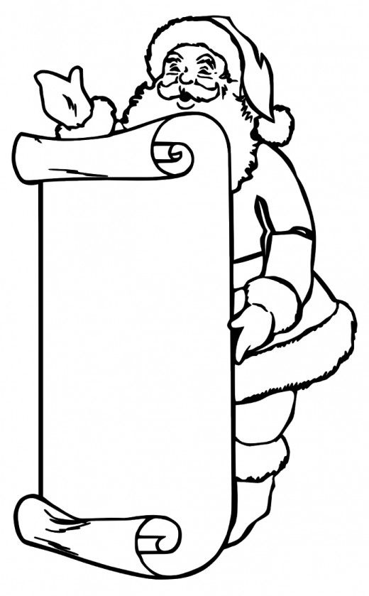 Santa Wish List Coloring Pages Wish List Coloring Page
