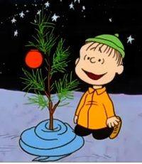 Linus with the Christmas Tree