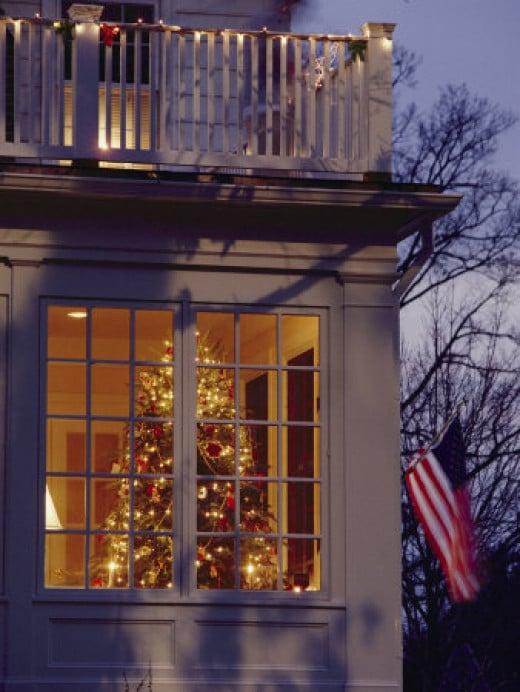 Christmas Tree Through a Window