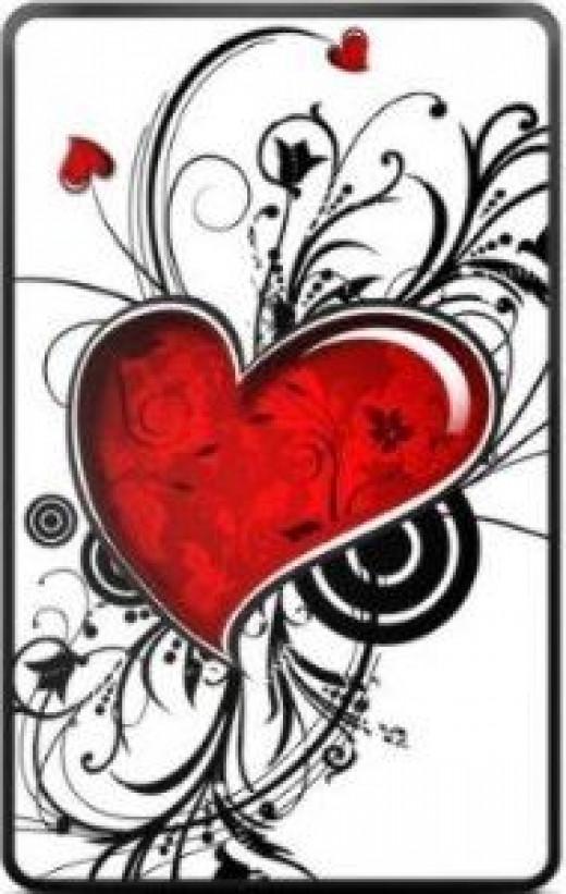 Vaentine Heart Decal
