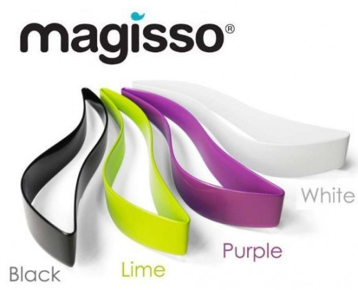 Magisso Cake Cutter comes in Black, Lime, Purple and White.