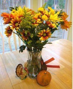 Thankgiving Vase of Fflowers