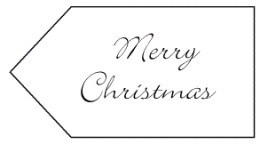 Merry Christmas Tag by Kirsti A. Dyer