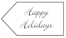 Happy Holidays Tag by Kirsti A. Dyer