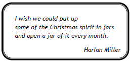 Christmas Spirit Quote Label by Kirsti A. Dyer