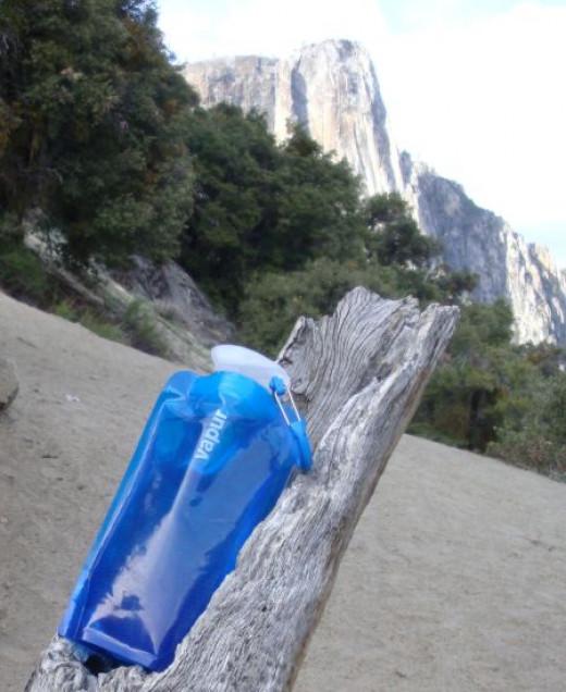 Vapur Shades Bottle chillin' in Yosemite. Copyright (c) 2013 Kirsti A. Dyer