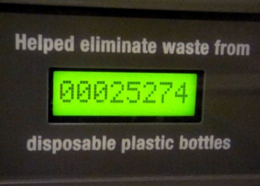 Number of Water Bottles Eliminated (Spring 2013). Copyright (c) 2013 Kirsti A. Dyer