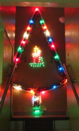 Christmas Tree of Lights Top of the Stairs by Rick