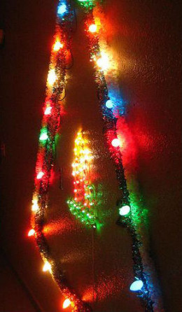 Christmas Tree of Lights in the hallway by Rick