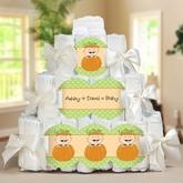 A Beautiful Pumpkin Baby Shower Diaper Cake