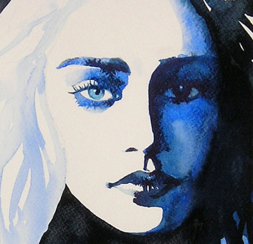 This Khaleesi Watercolor Print comes in different sizes and I found it on Etsy.  Just click on the picture.