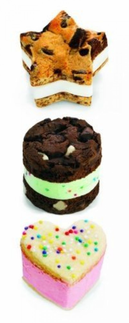 Mini Ice Cream Sandwiches made with Cuisipro Mini Ice Cream Sandwich Maker