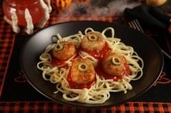 Eyeball Meatballs And Spaghetti Halloween Dinner Ideas