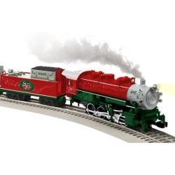 Lionel Santa's Flyer Is Ready To Run Christmas Train Set - trains and Christmas are perfect together.  Photo Credit:  Amazon
