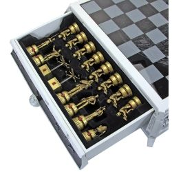 Here's a picture of the chess pieces that come with the collectible Star Wars chess set.  Photo Credit:  Amazon