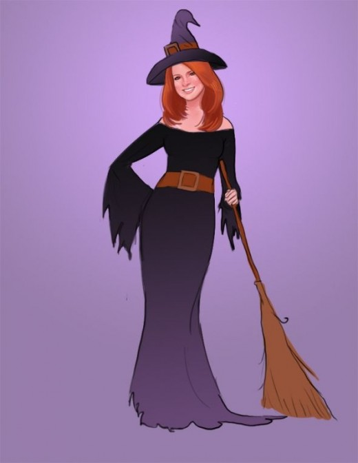 Here's Me - The Halloween Kitchen Witch And I'm A Good Witch!