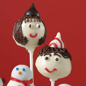 http://www.tasteofhome.com is where I found this Elf cake pop picture.  Visit them to find out how you can make these cute cake pops.