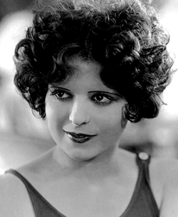 Clara Bow - One of the famous flappers from the 1920's. This picture is is in the public domain.