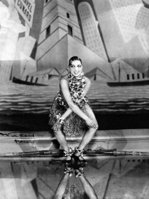 Josephine Baker - A Famous Flapper Doing The Charleston in a picture from the public domain.