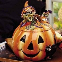 Hey!  How did this pumpkin cookie jar get in this pumpkin picture gallery?  You can find this cookie jar and more at http://www.squidoo.com/halloween-cookie-jars