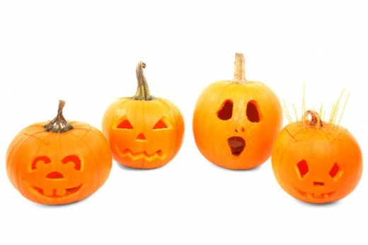 Take some smaller pumpkins and carve a different design in each one to make a cute display for your front porch or garden.  Carving pumpkins doesn't have to be a giant project that takes days and days - it can be if you are so inclined, but simple c
