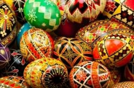 Pysanky Eggs At Easter